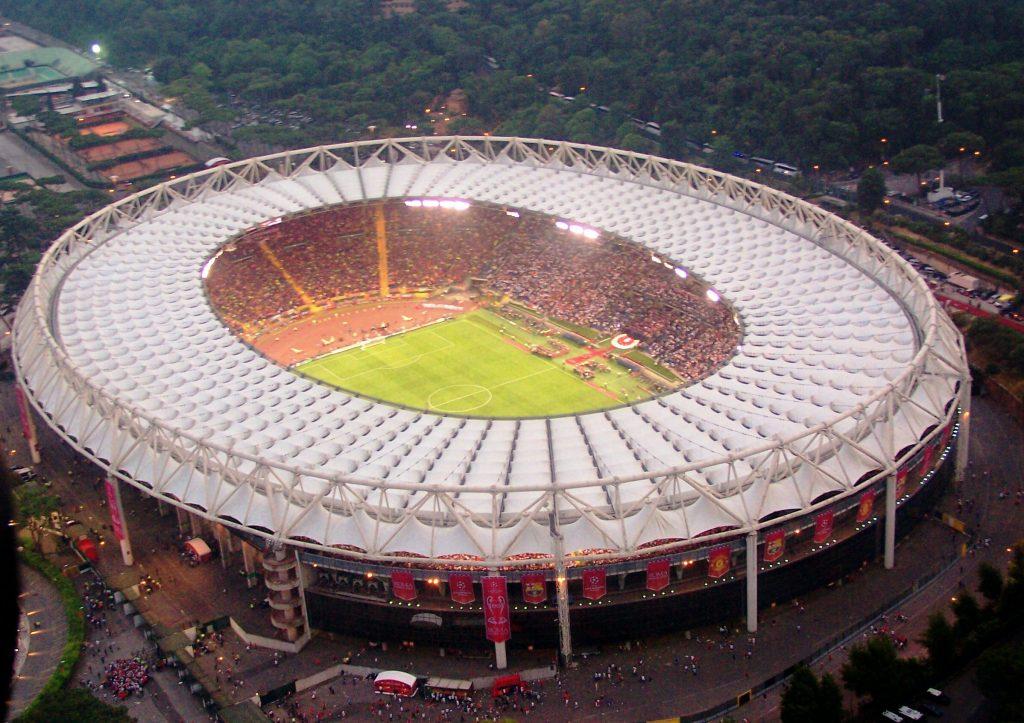 Stadio Olimpico di Roma dall'alto (foto Di Ruscio)